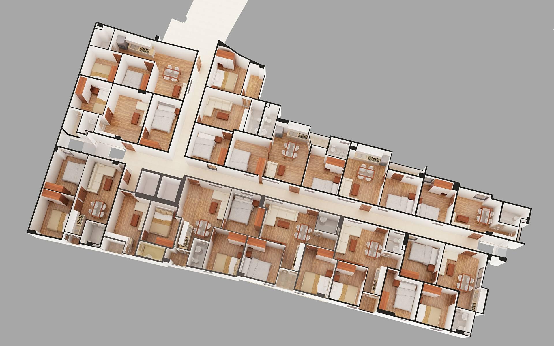 mặt bằng thiết kế chung cư mini hoàng đạo thành