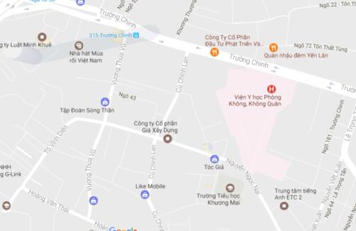 Chung cư mini Vương thừa vũ nhìn từ Google Maps