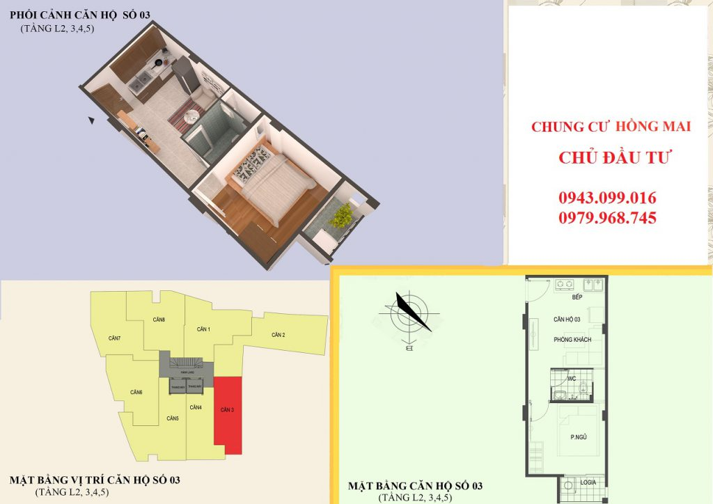 Thiết kế căn hộ 03 diện tích 30m2