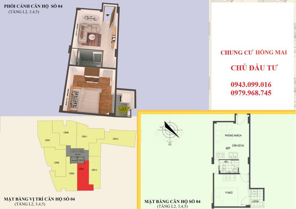 Thiết kế căn hộ 04 diện tích 30m2