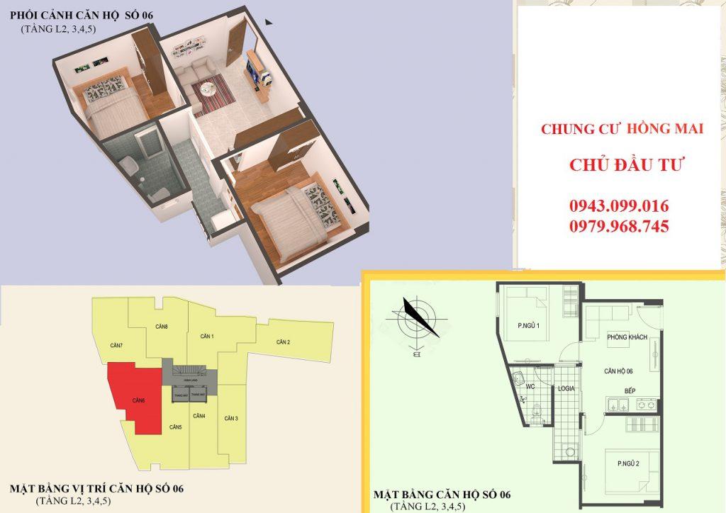 Thiết kế căn hộ 06 diện tích 45m2
