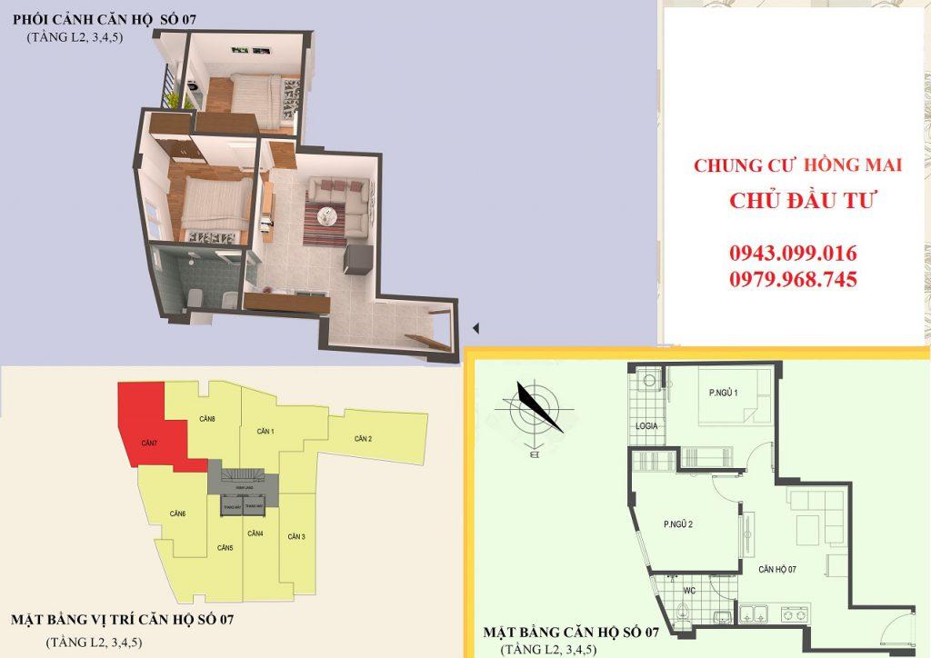 Thiết kế căn hộ 07 diện tích 45m2