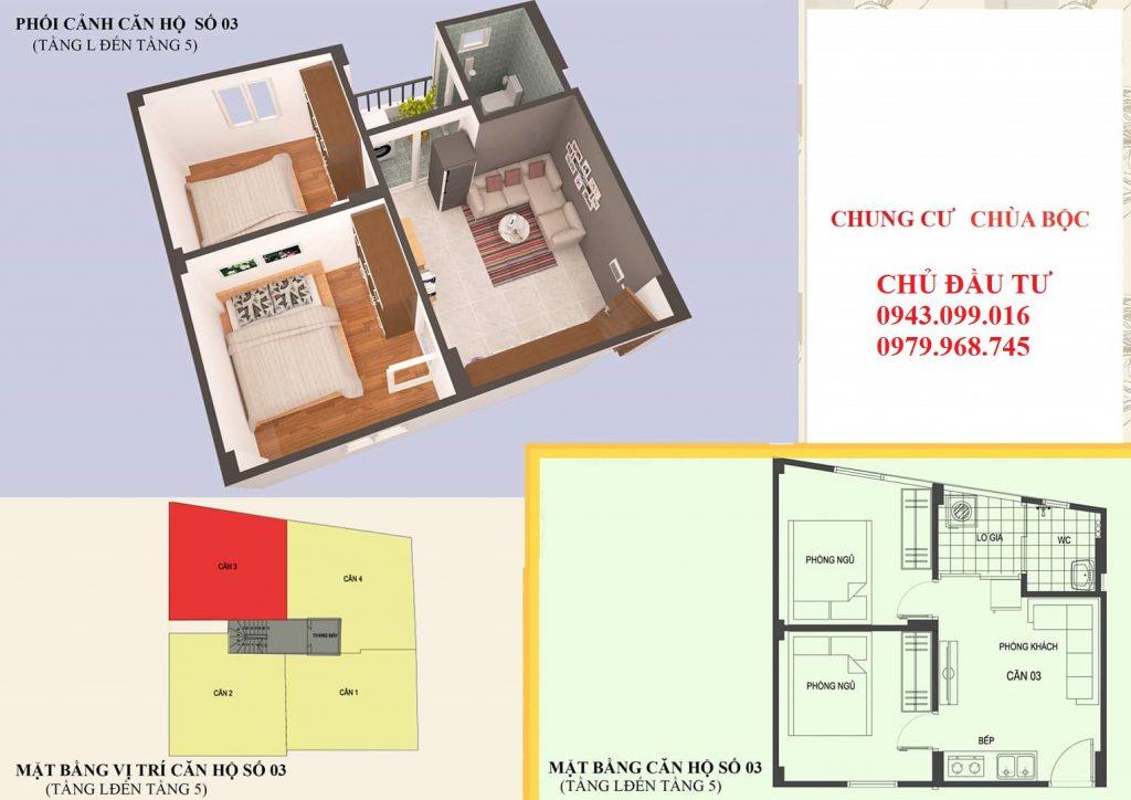 Thiết kế căn 03 diện tích 46m2